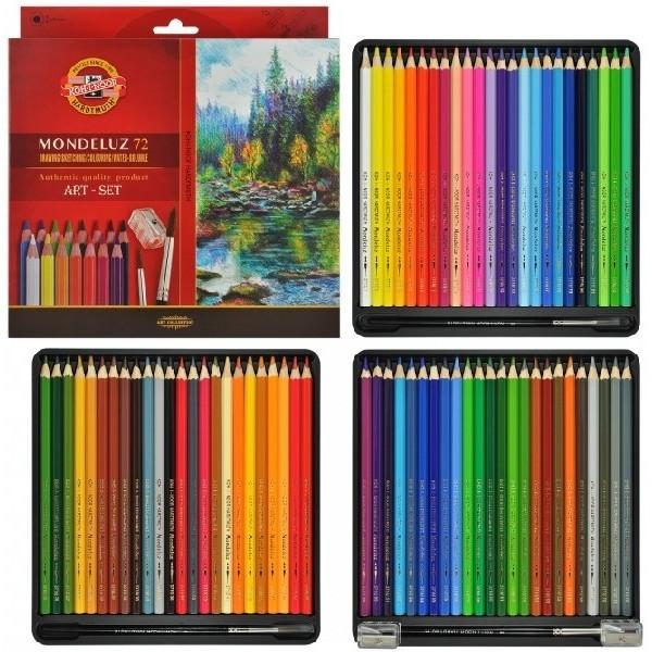Акварельные карандаши кохинор 72 цвета