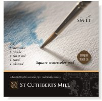 Альбом St Cuthberts Mill, Square watercolor pad 260 г/м, 30х30 см, 20 листов,