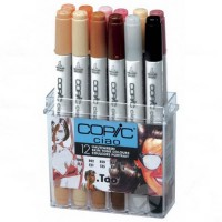 Набор маркеров COPIC CIAO Skin Tone 12 шт