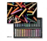 Набор сухой пастели Gallery Extra Soft Pastels For Artists 30 цветов круглая